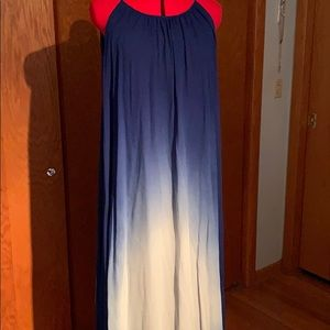 French connection ombré blue maxi